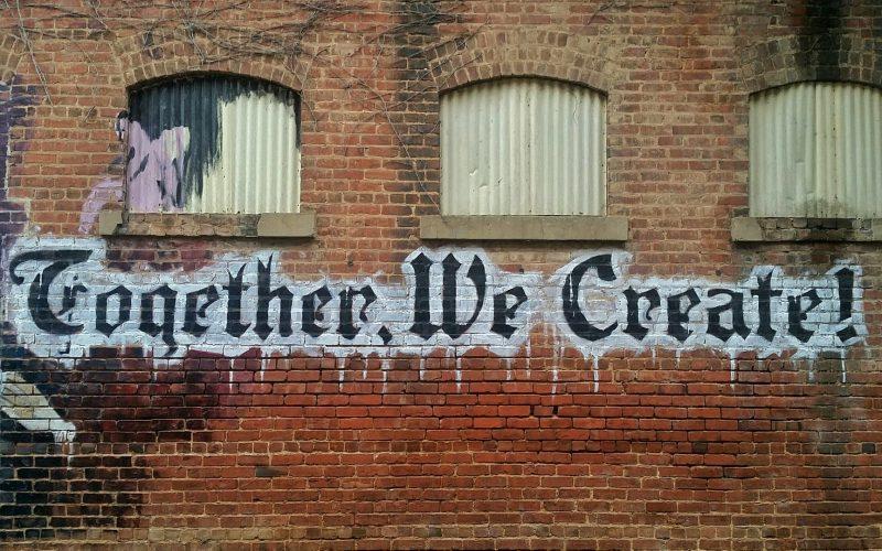 A photo of street art